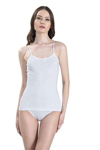 Jiber Kadın Ayar Askılı Body 2'li Ekonomik Paket 534 | Beyaz