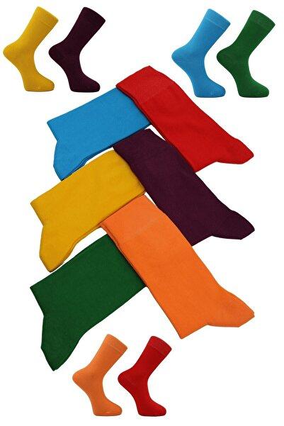 DAYCO Unisex 6'lı Renkli Çoraplar
