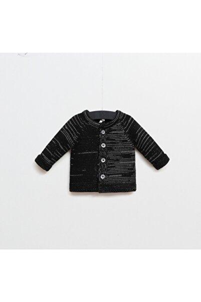 Wogi Unisex Bebek Siyah Triko Hırka
