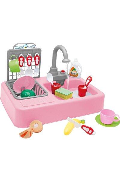 Kayyum Oyuncak Modern Mutfak Lavabo Oyuncağı Pembe Rengi