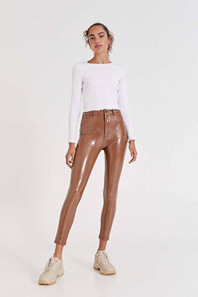 Pull & Bear Vinil Skinny Fit Pantolon