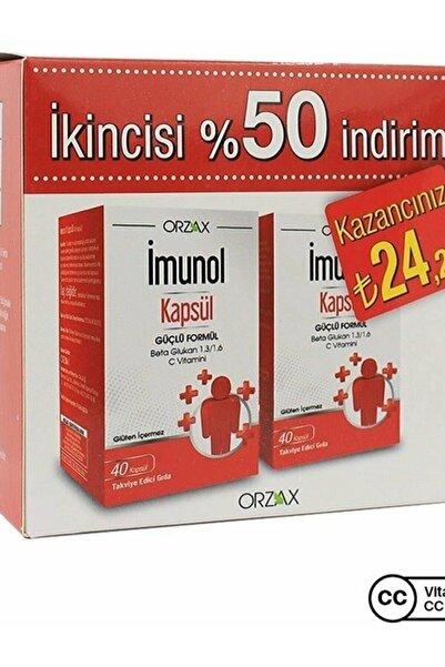 İMUNOL Imunol Beta Glukan 40 Kapsül 2'li Paket
