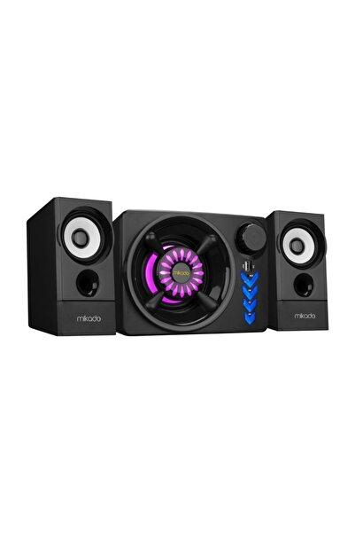 DTS Teknoloji Mikado Md-219bt 2+1 10w+3wx2 Siyah Usb + Tf Kart + Bluetooth Speaker