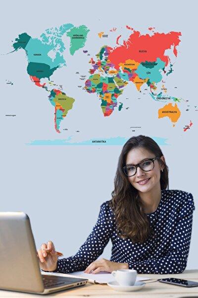 Tutunabilir Kağıt Dünya Haritası Akıllı Kağıt Tahta Yazı Tahtası Özel Baskı Renkli + Yazı Tahtası Kalemi 1 Adet