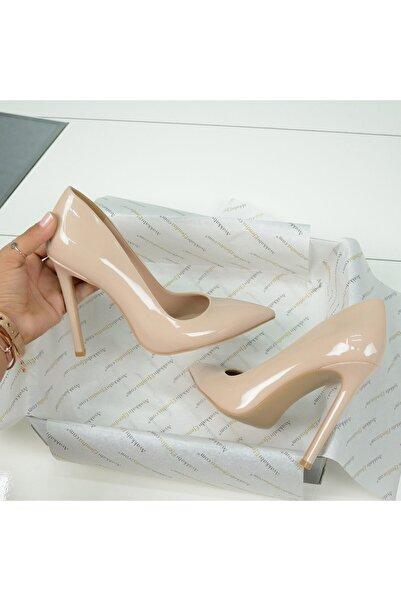 AyakkabıEfendisi Reel Nude Rugan Stiletto (naturel Jurdan)