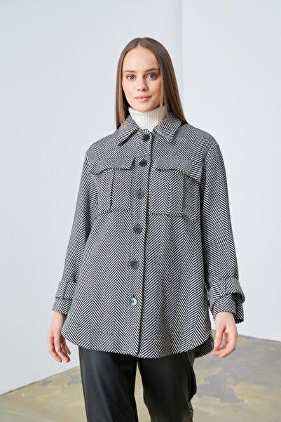 Gusto Balıksırtı Ceket - Gri