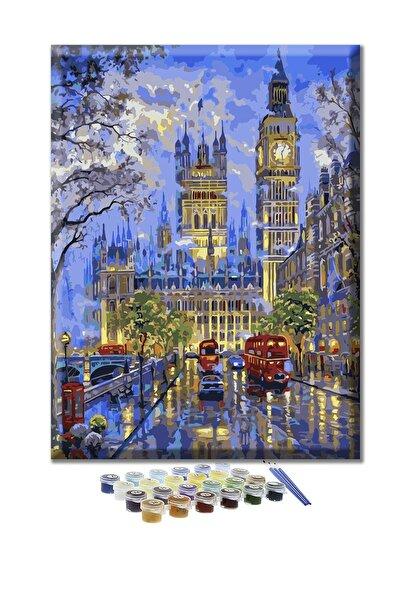 Doruk Baskı Sayılarla Boyama Seti - Londra Sokakları