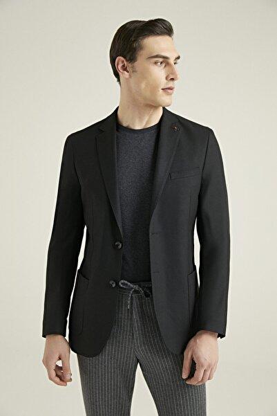 Tween Slim Fit Siyah Kumaş Ceket