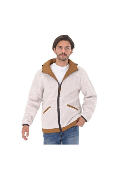 Timberland B0a22ykbh71-r Ecoriginal Reversible Quilt Onion Fleec Erkek Ceket Beyaz
