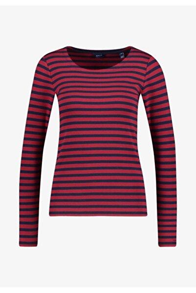 Gant 1x1 Rib Striped Ls T-shirt Mor