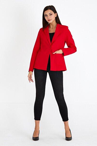 VALE WOMAN Şal Yaka Cep Detaylı İçi Astarlı Düğmeli Blazer Kadın Ceket