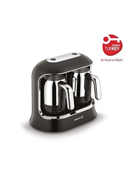 KORKMAZ Kahvekolik Twin Siyah Kahve Makinesi A861-01