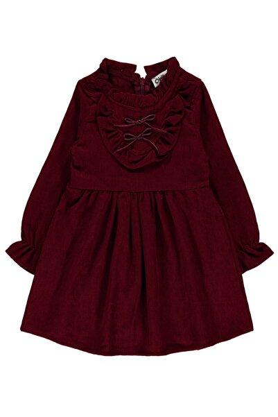 Civil Girls Kız Çocuk Elbise 2-5 Yaş Bordo