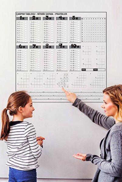 Tutunabilir Kağıt Çarpım Tablosu Akıllı Kağıt Tahta 100x100 Cm Yazı Tahtası + Kalem Duvara,Cama,Tahtaya Uygulanır