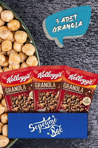 Kellog's Kellogg's Granola Çikolata Parçacıklı Ve Fındıklı 340 G X3 Paketi
