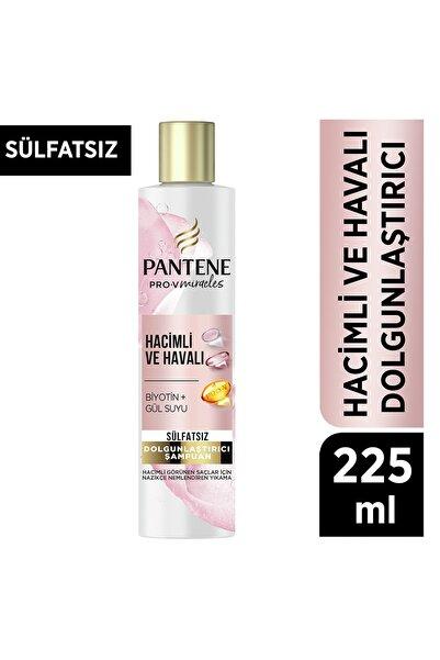 Pantene Sülfatsız Hacim Veren Dolgunlaştırıcı Şampuan, Biotin ve Gül Suyu, 225ml