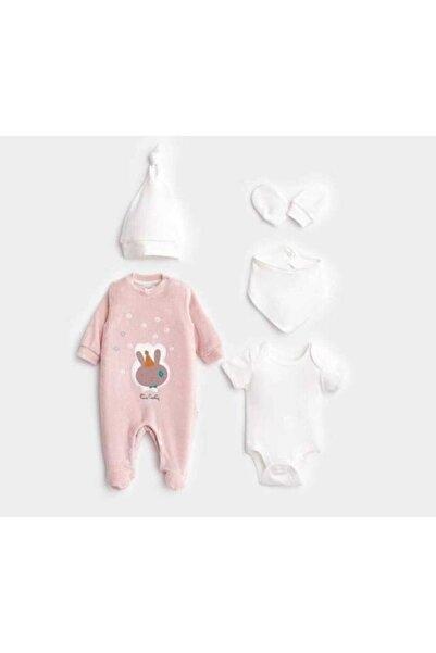 Pierre Cardin Baby Kız Bebek Pembe  5li Hastane Çıkışı