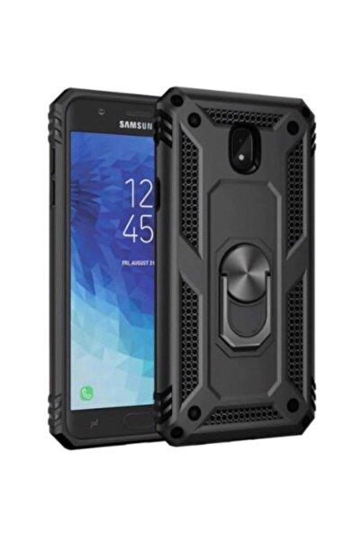 Mopal Samsung Galaxy J7 Pro Uyumlu Siyah Yüzüklü Tank Kılıf