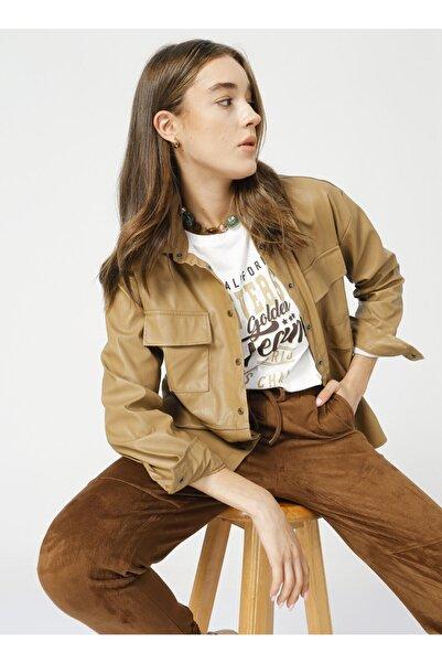 Fabrika Comfort Bej Kadın Gömlek