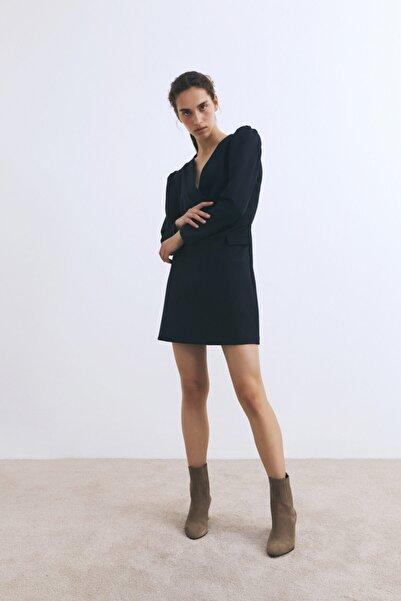 W Collection Lacivert Anvelop Elbise