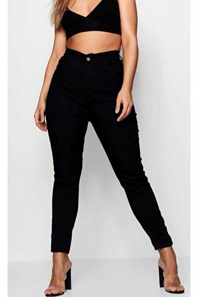 sinemstyle Butik Cool Kadın Büyük Beden Siyah Skinny Jeans (TOPARLAYICI)
