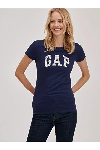 GAP Kadın Lacivert Logo T-shirt