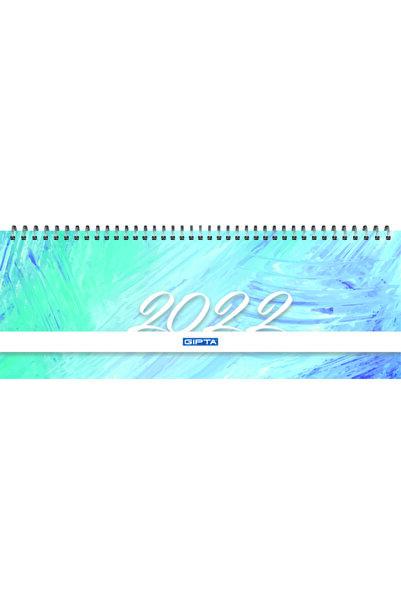Gıpta 2022 Brite Haftalık Spiralli Masa Takvimi 12x33 Cm (504-btk) Açık Mavi