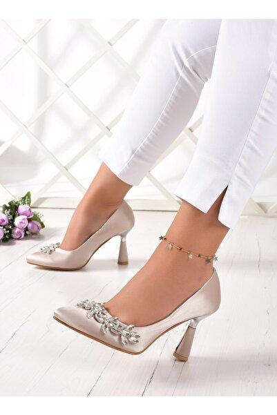 Erkan Saçmacı Taşlı Mary Parlak Stiletto Ayakkabı 2022