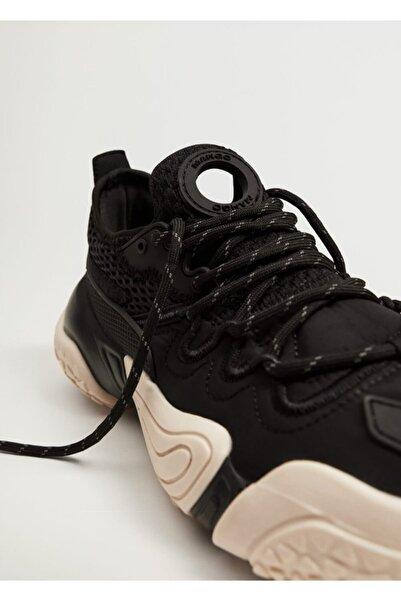MANGO Woman Kadın Siyah Büyük Tabanlı Spor Ayakkabı