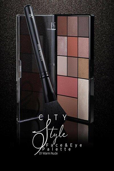 Golden Rose City Style Face & Eye Palette 01 Warm Nude