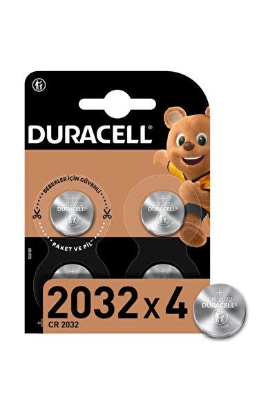 Duracell Özel 2032 Lityum Düğme Pil 3V, 4'li paket (CR2032)
