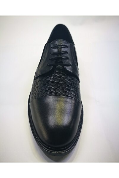 Everest Deri Bağcıklı Erkek Siyah Ayakkabı