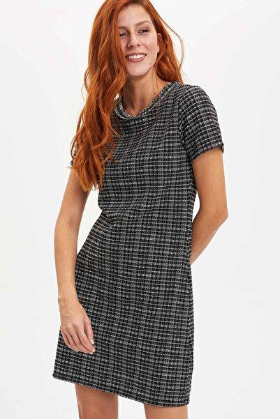 DeFacto Kadın Siyah Basic Örme Elbise N0769AZ.20SP.BK27