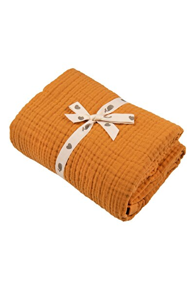 Migaloo 100% Pamuk 4 Katlı Müslin Örtü Battaniye (120x90 Cm) Tarçın