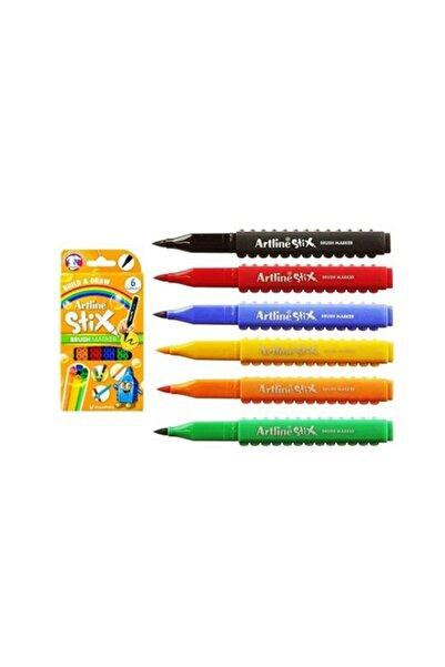 artline Stix Fırça Uçlu Markör Kalem 6lı