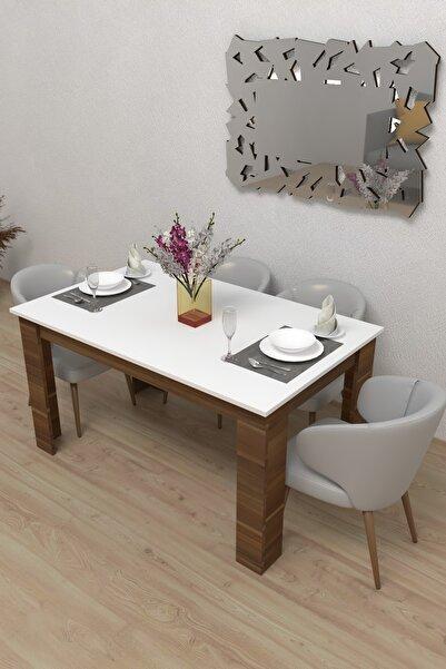 Durusilya Mobilya 6 Kişilik Mutfak Salon Balkon Yemek Masası