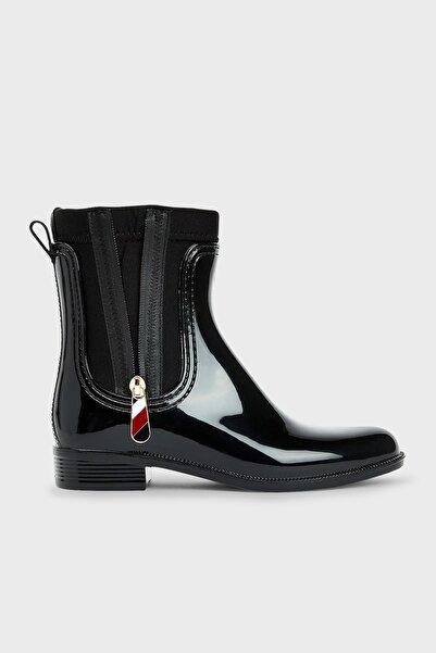 Tommy Hilfiger Kadın Yağmur Çizmesi Fw0fw06000 Bds