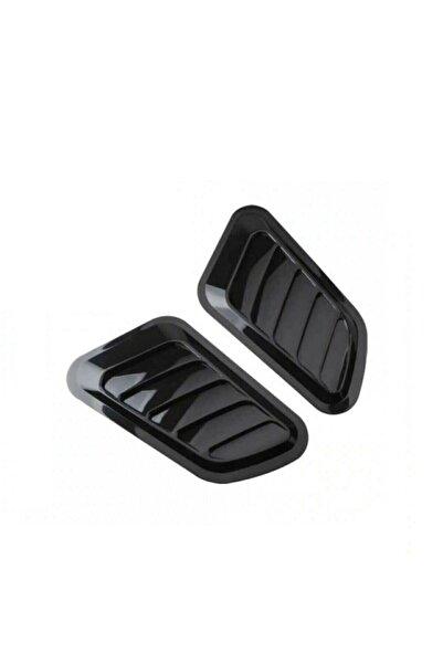 Ankaflex Piano Black Kaput Üstü Havalandırma Izgara Kaput Üstü Body Kit Venti Universal 2 Li Parlak Siyah