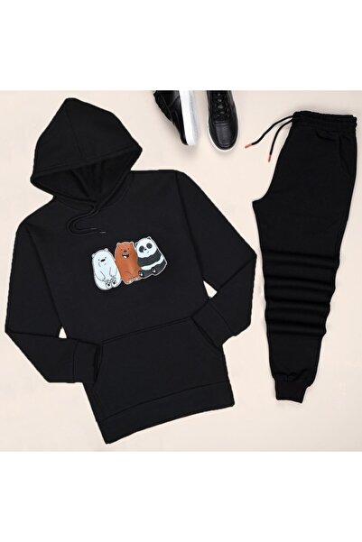 uyguntarz Siyah Panda Eşofman Takımı