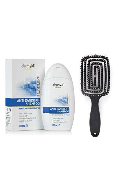 Dermokil Nascita Üç Boyutlu Saç Fırçası Pro 10 Xtreme Kepeğe Karşı Etkili Şampuan 300 ml