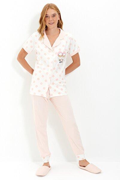 TRENDYOLMİLLA Çok Renkli Örme Pijama Takımı THMAW22PT0688