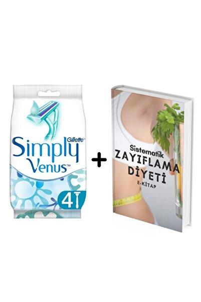 Gillette Simply Venüs 2 Kullan At Kadın Tıraş Bıçağı 4'lü Diyetisyenden Zayıflama Diyeti E-kitap
