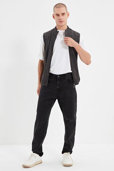 TRENDYOL MAN Siyah Erkek Relax Fit Jeans TMNAW21JE0286