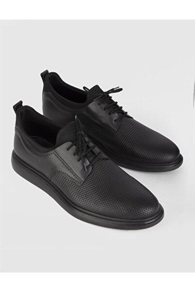 İLVİ Erkek Siyah Desenli Casual Ayakkabı