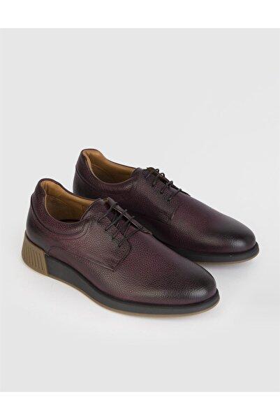 İLVİ Aleus  Deri Erkek Bordo Günlük Ayakkabı