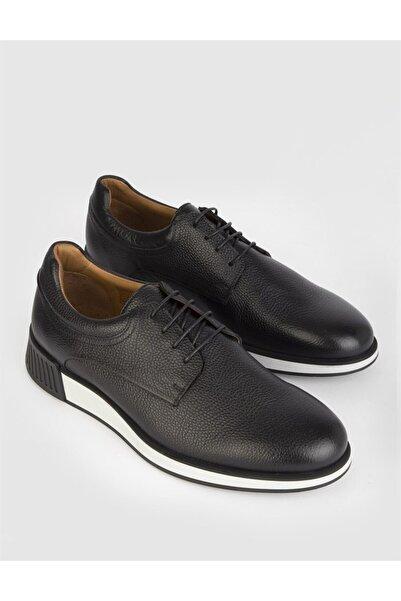 İLVİ Aleus  Deri Erkek Siyah Günlük Ayakkabı
