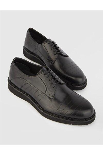 İLVİ Javier  Deri Erkek Siyah Günlük Ayakkabı