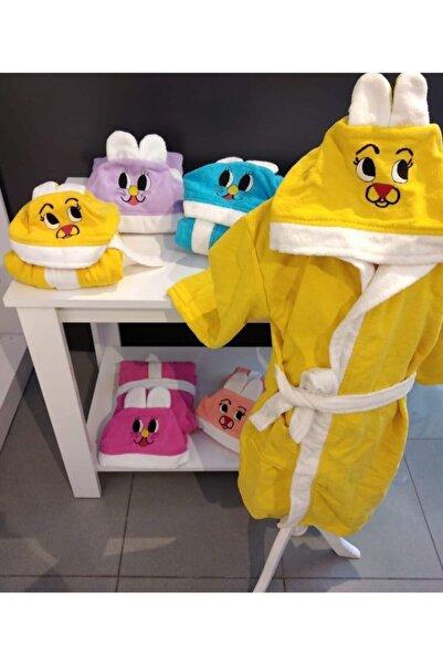 Baby&Kids Çocuk Bornozu Kids Babies Kapşonlu Kulaklı