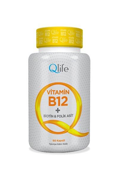 Q LİFE Qlife Vitamin B12 + Biotin & Folik Asit 60 Kapsül