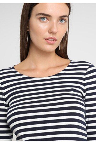 Gant Kadın 1x1 Rib Striped Ls T-shirt